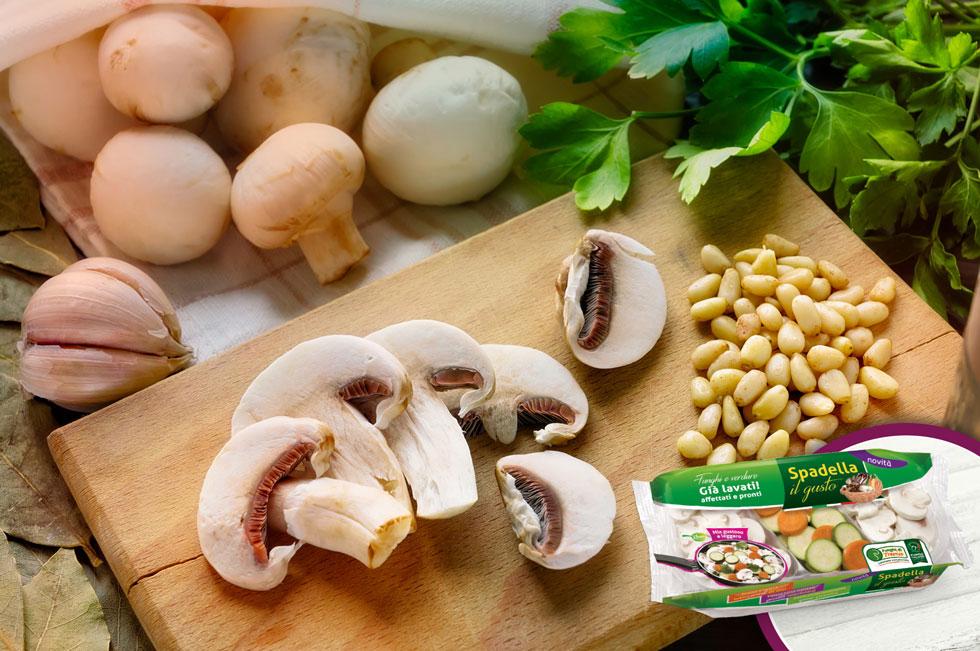 Insalata di champignon crudi