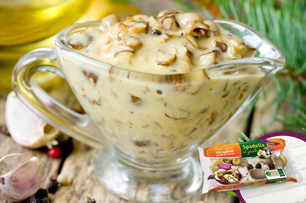 Funghi con salsa di yogurt