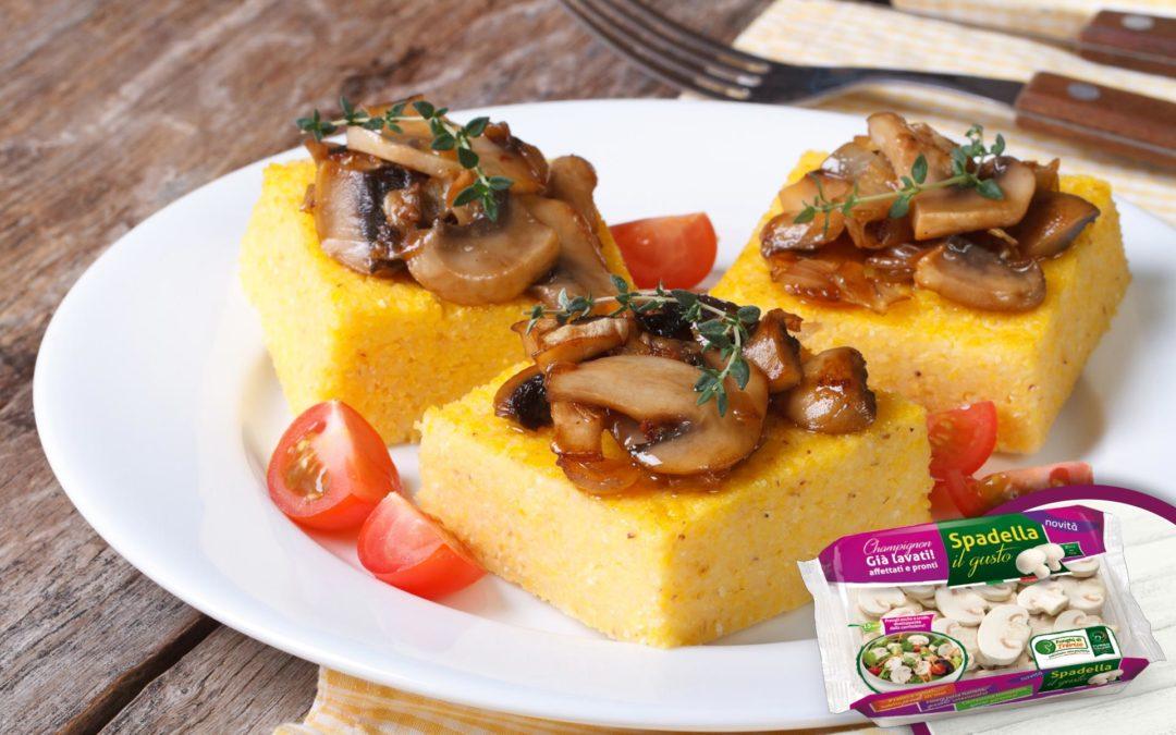 Barchette di polenta con funghi