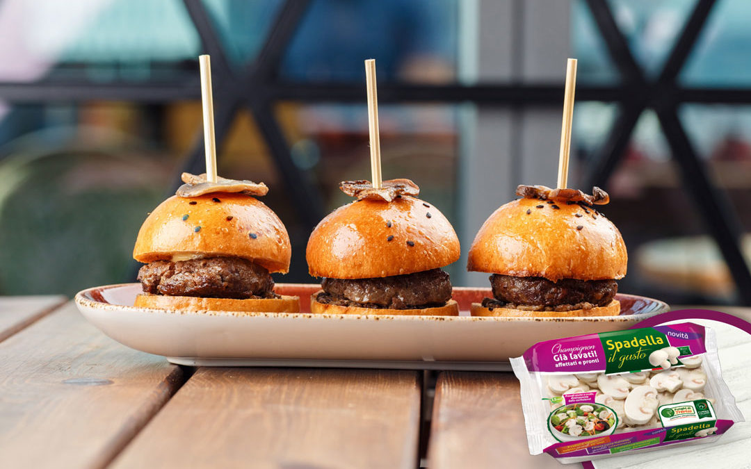 Mini hamburger con Champignon