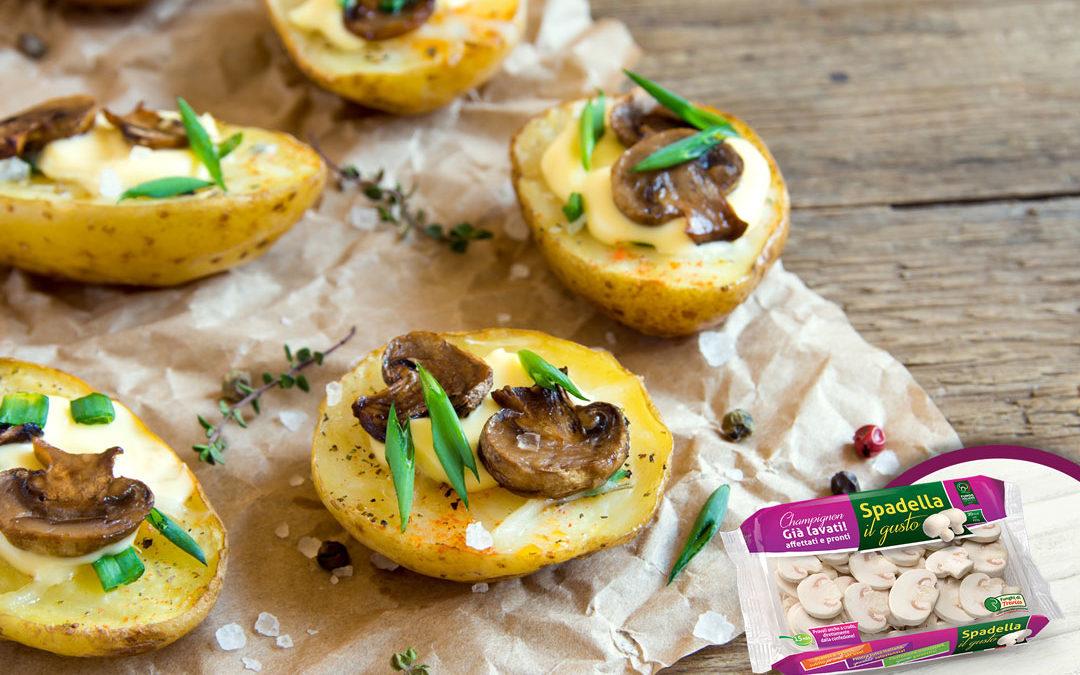 Barchette di patate con funghi