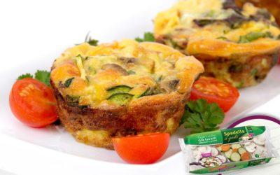 Muffin salati con Funghi e verdure Spadella il gusto