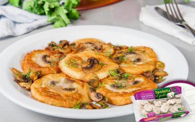 Pancake di patate con Funghi Champignon Spadella il gusto