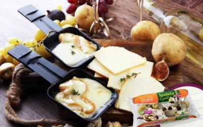 Raclette di formaggio e Funghi Trifolati Spadella il gusto