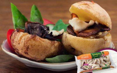 Barchette di patate con Funghi Pleurotus Spadella il gusto