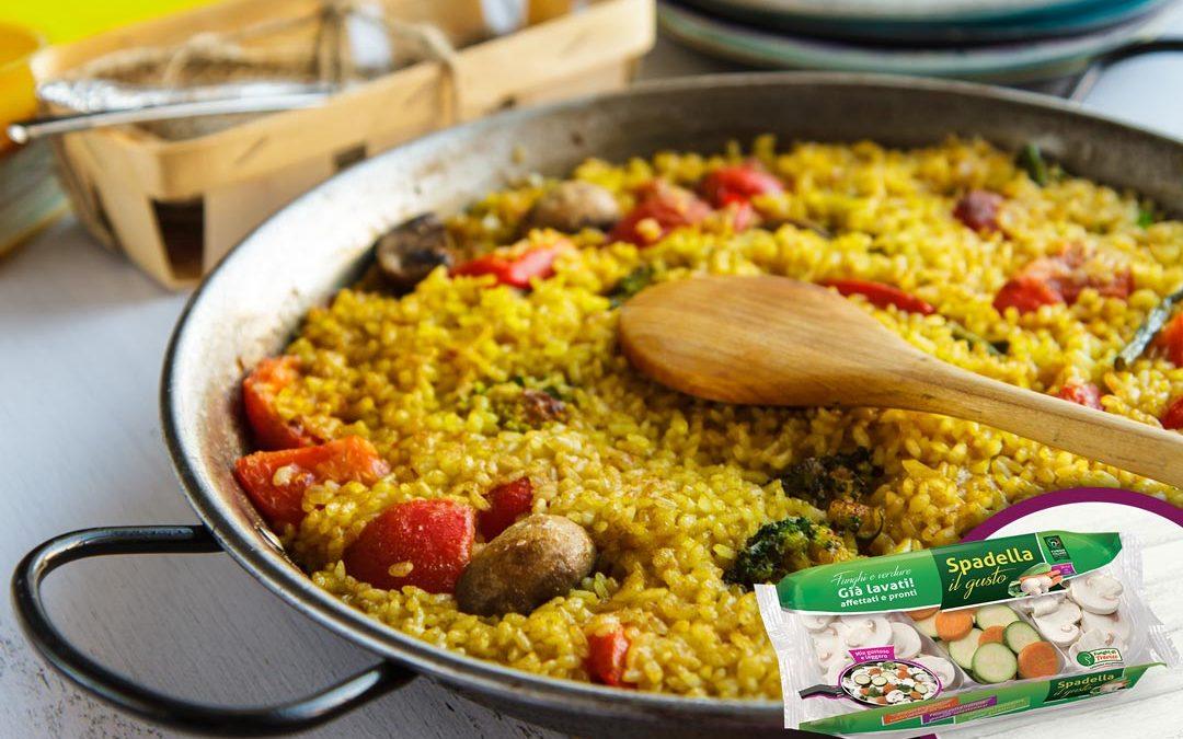 Paella vegetariana con Funghi e verdure Spadella il gusto