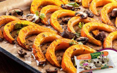 Zucca di Halloween al forno con Funghi Trifolati Spadella il gusto