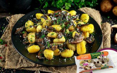 Gnocchi di patate con Funghi Trifolati Spadella il gusto