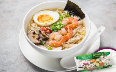 Noodles in brodo con Funghi e verdure Spadella il gusto