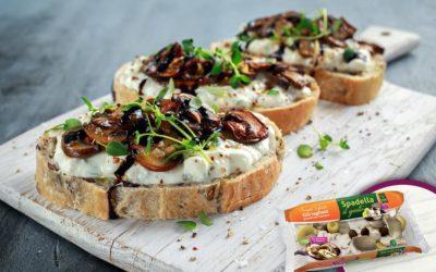 Open Toast con Funghi Trifolati Spadella il gusto