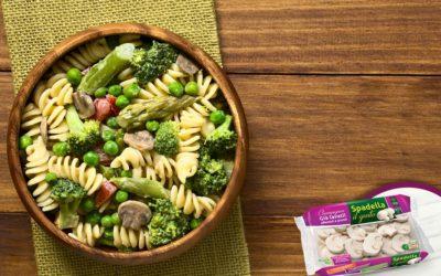 Pasta primavera con Funghi Champignon Spadella il gusto