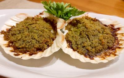 Capesante gratinate con funghi champignon Spadella il gusto